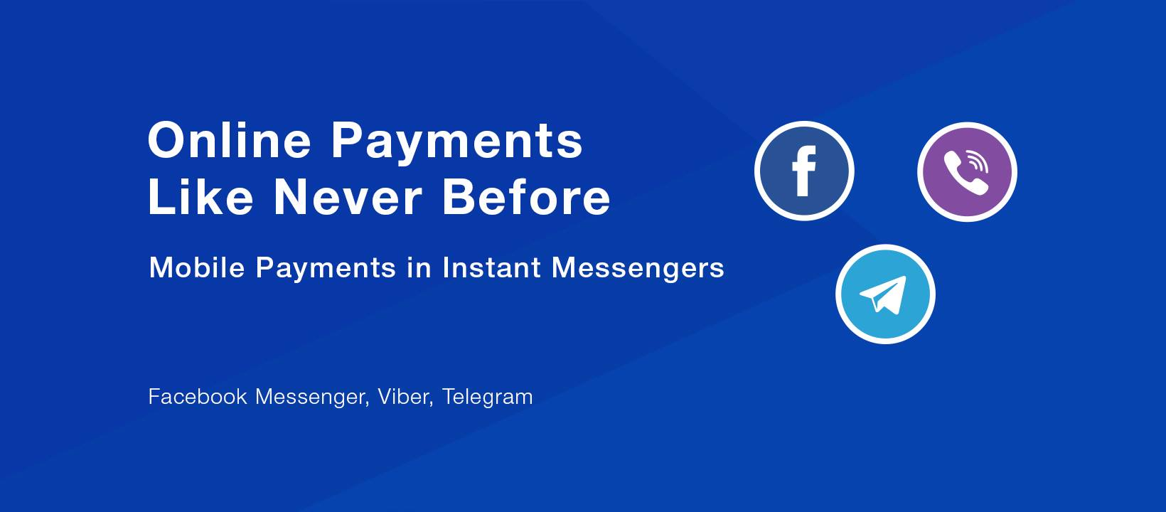 Accept payments online on websites, social media, messengers
